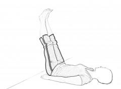 Supine Wall Stretch 1