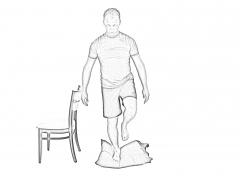 Single Leg Stance (SLS) with cushion - B
