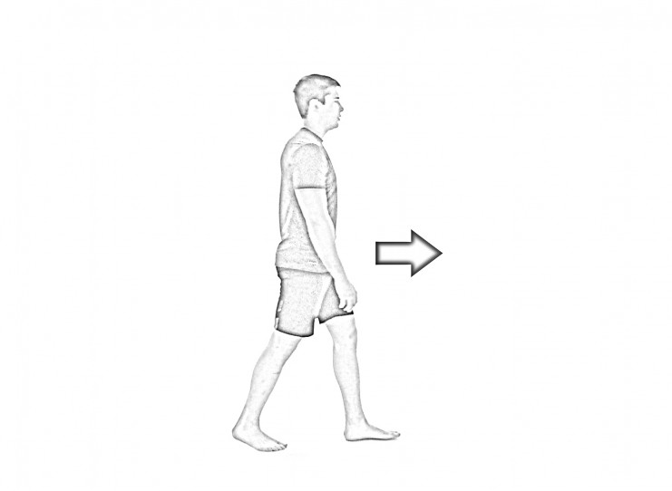 Butt kick walk - 1