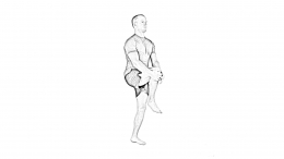High knee walk-1