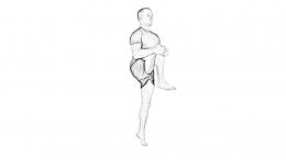 High knee walk-2