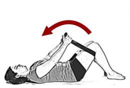 Knee to Chest Stretch Buttocks Hip Flexibility - 1
