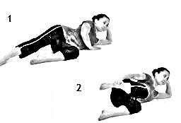 Pretzel Stretch - Quadriceps Stretch