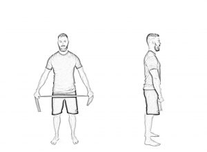 Shoulder mobility with band-1