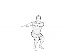 Squat and trunk rotation-2